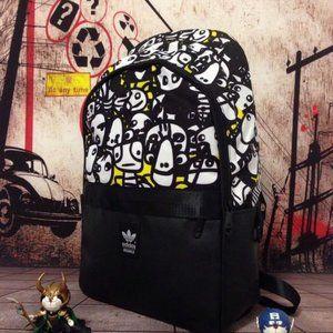 Adidas cartoon cute student backpack